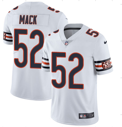 Men's Chicago Bears #52 Khalil Mack White Vapor Untouchable NFL Limited Stitched Jersey