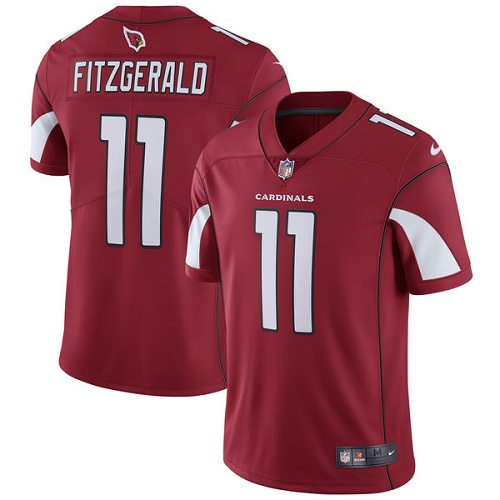 Men's Arizona Cardinals #11 Larry Fitzgerald Red Vapor Untouchable Limited Stitched NFL Jersey
