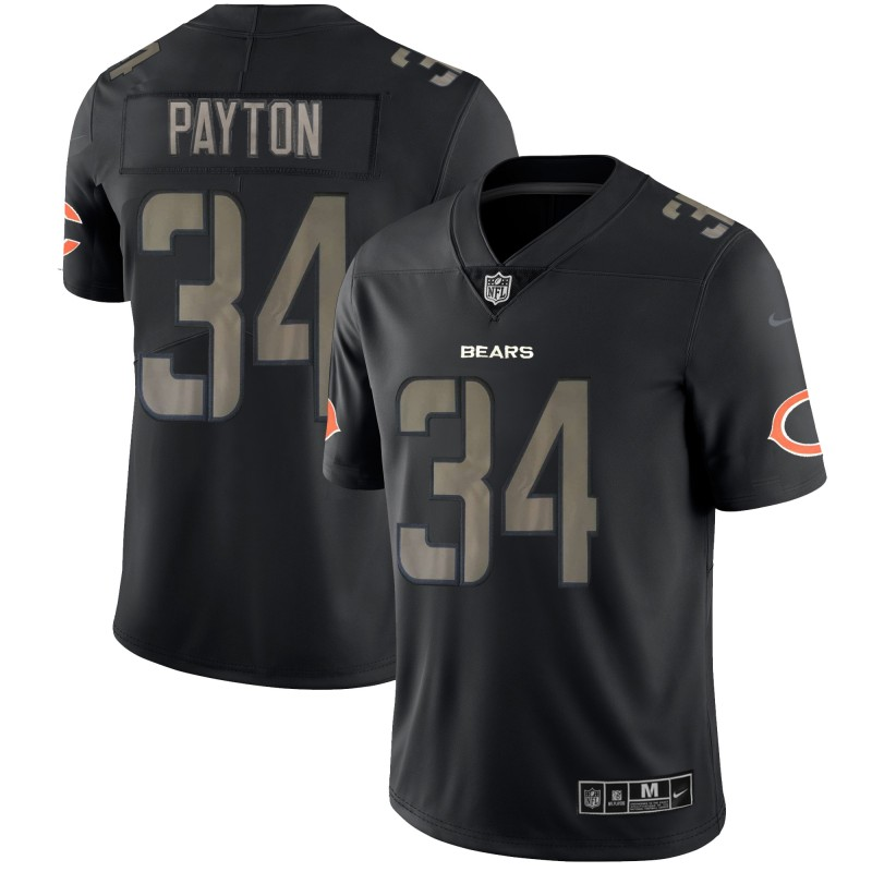 Men's Bears #34 Walter Payton Black Impact Limited Stitched NFL Jersey