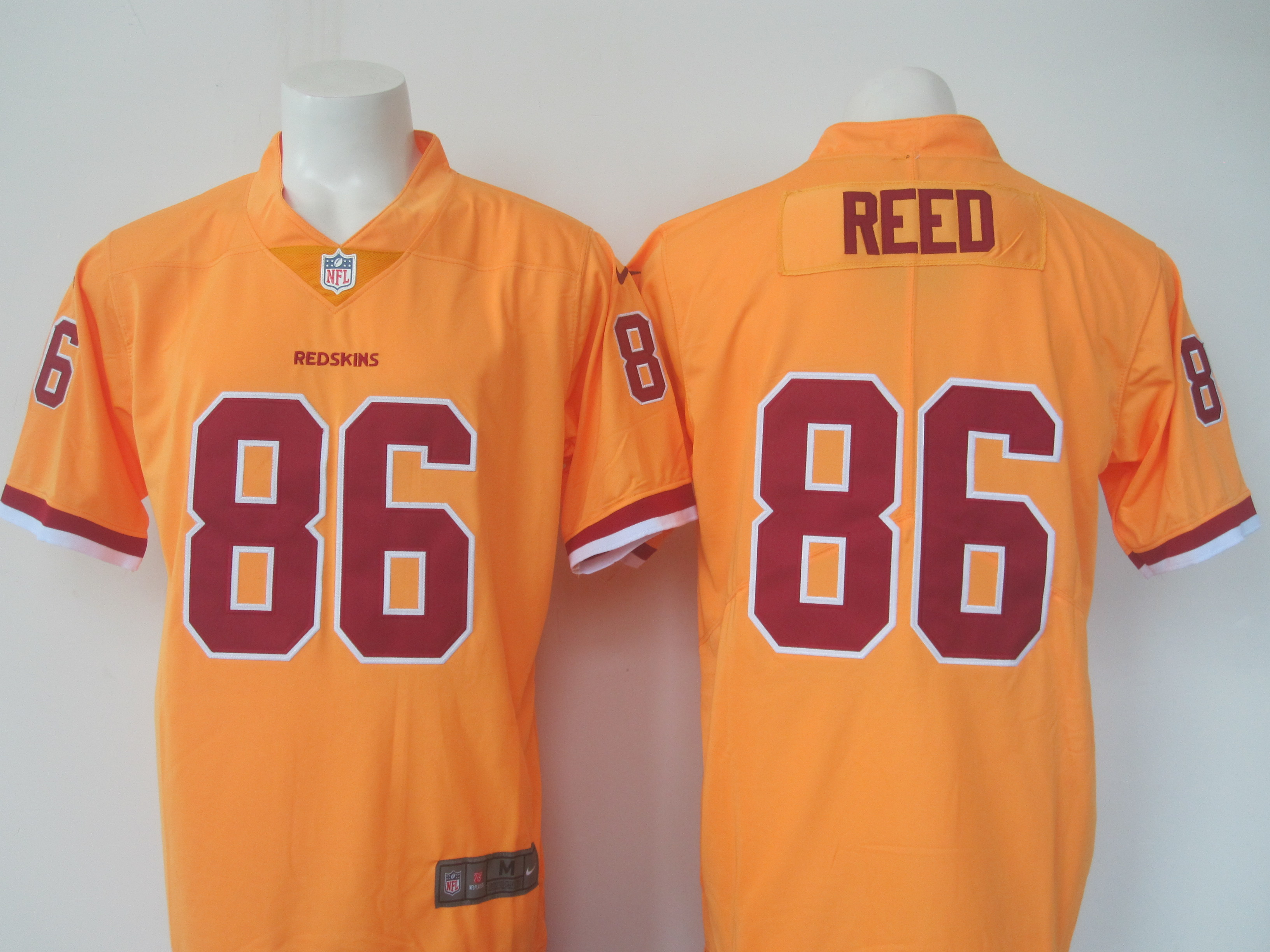Men's Nike Redskins #86 Jordan Reed Yellow Limited Rush Stitched NFL Jersey