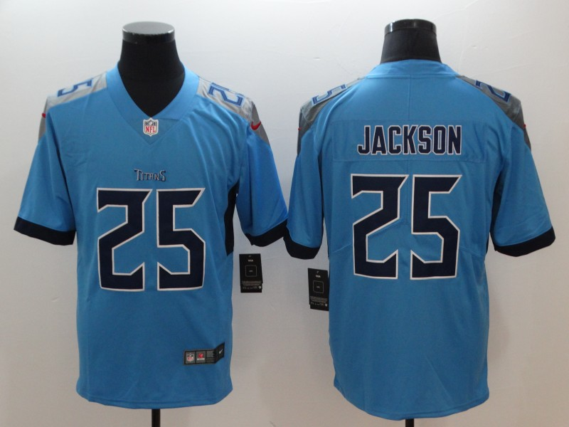 Men's Tennessee Titans #25 Adoree' Jackson Light Blue New 2018 Vapor Untouchable Limited Stitched Jersey