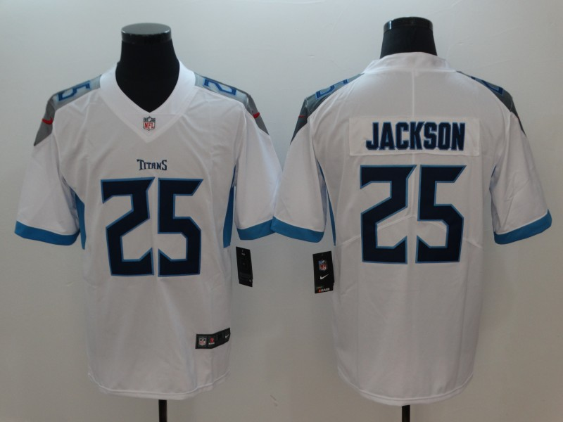 Men's NFL Tennessee Titans #25 Adoree' Jackson White New 2018 Vapor Untouchable Limited Stitched Jersey