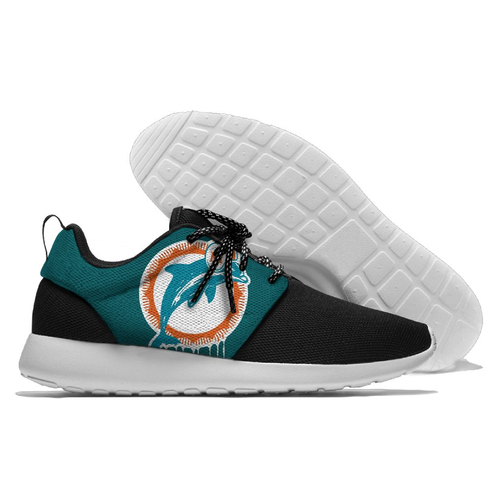 Men's NFL Miami Dolphins Roshe Style Lightweight Running Shoes 007