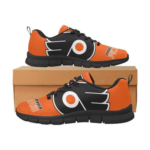 Women's NHL Philadelphia Flyers Lightweight Running Shoes 003