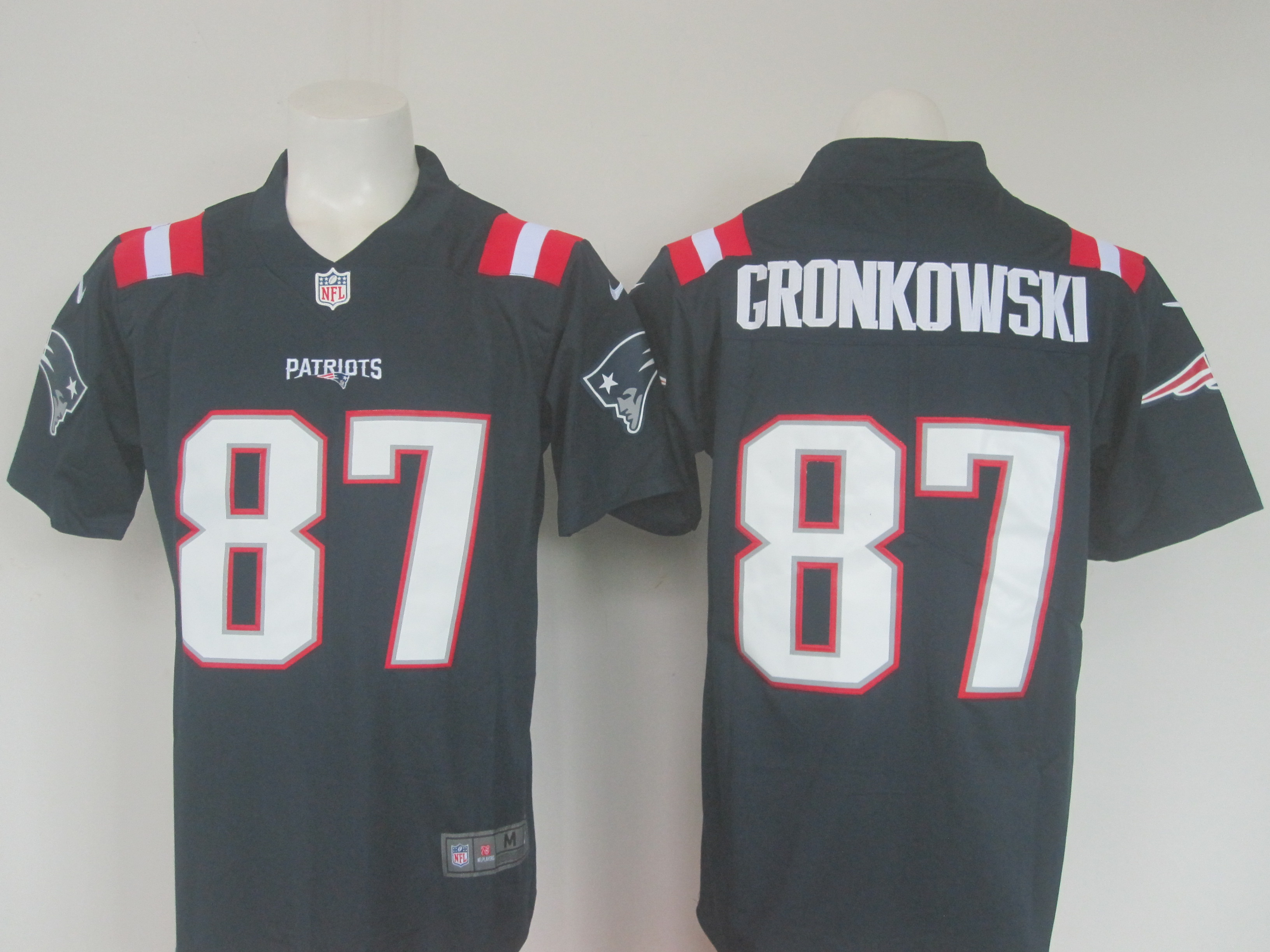 Men's Nike Patriots #87 Rob Gronkowski Navy Limited Rush Stitched NFL Jersey