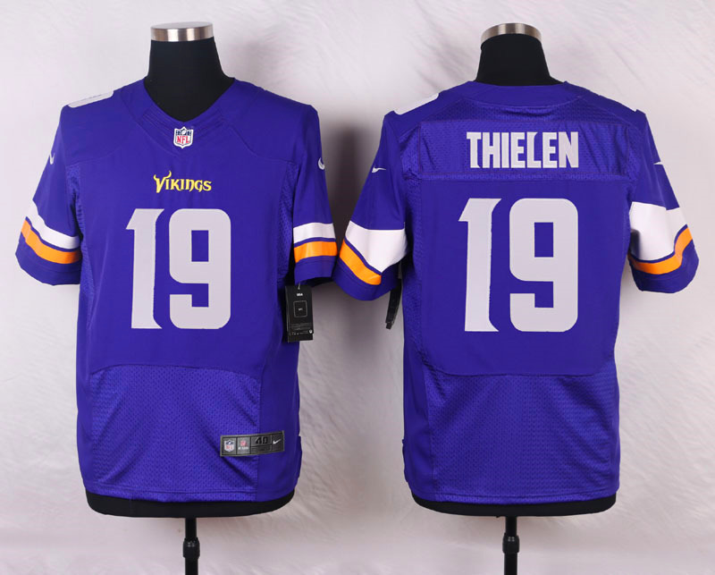 Nike Vikings #19 Adam Thielen Purple Team Color Men's Stitched NFL Elite Jersey