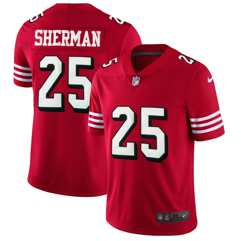 Men's San Francisco 49ers #25 Richard Sherman Red 2018 Rush Vapor Untouchable Limited Stitched NFL Jersey