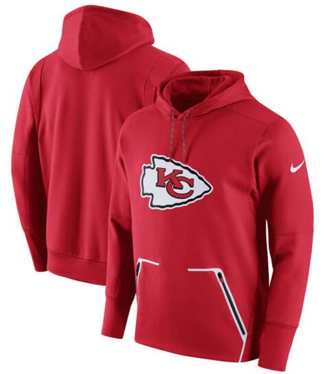Men's Nike Kansas City Chiefs Red Champ Drive Vapor Speed Pullover Hoodie