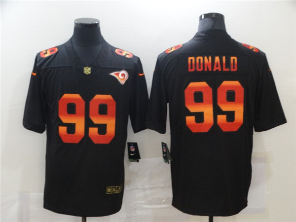 Men's Los Angeles Rams #99 Aaron Donald 2020 Black Fashion Limited Stitched NFL Jersey