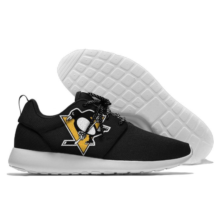 Men's NHL Pittsburgh Penguins Roshe Style Lightweight Running Shoes 004