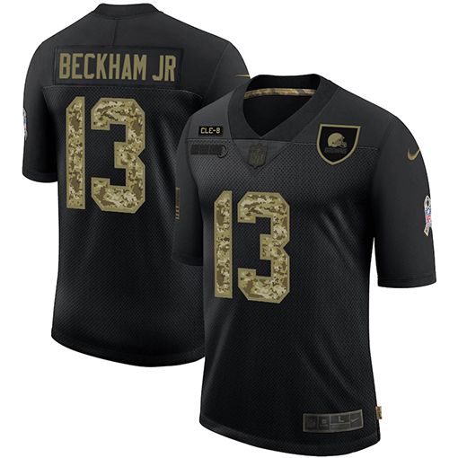 2020 Black Camo Salute To Service Limited Stitched NFL Jersey