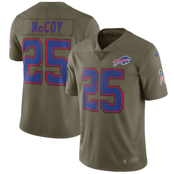 Men's Nike Buffalo Bills #25 LeSean McCoy Olive Salute To Service Limited Stitched NFL Jersey