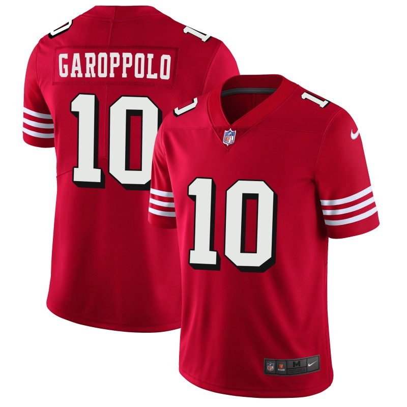 Men's San Francisco 49ers #10 Jimmy Garoppolo Red 2018 Rush Vapor Untouchable Limited Stitched NFL Jersey