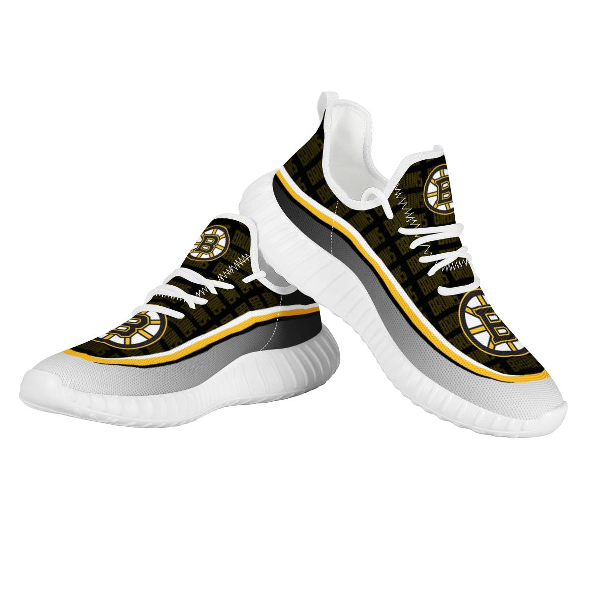 Women's NHL Boston Bruins Lightweight Running Shoes 003