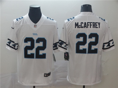 Men's Carolina Panthers #22 Christian McCaffrey White 2019 Team Logo Cool Edition NFL Limited Stitched Jersey