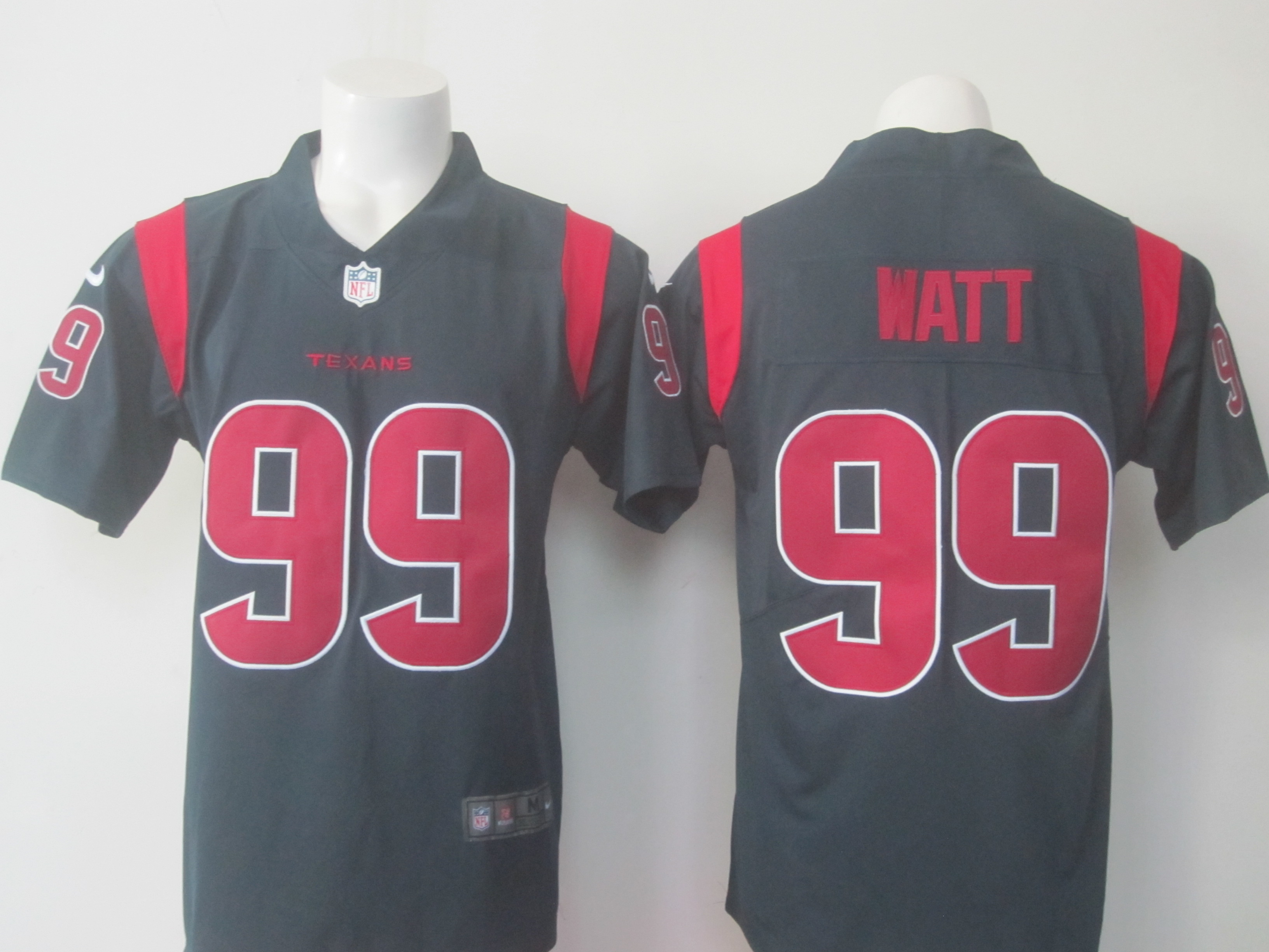 Men's Nike Texans # 99 J.J. Watt Navy Limited Rush Stitched NFL Jersey
