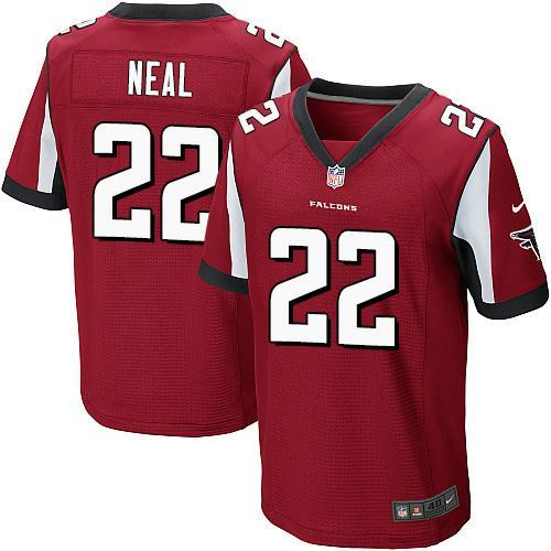 Nike Falcons #22 Keanu Neal Red Team Color Men's Stitched NFL Elite Jersey