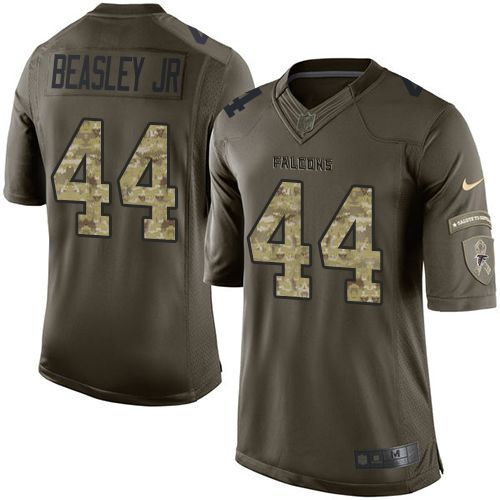 Nike Falcons #44 Vic Beasley Jr Green Men's Stitched NFL Limited Salute To Service Jersey