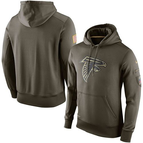 Men's Atlanta Falcons Nike Olive Salute To Service KO Performance Hoodie