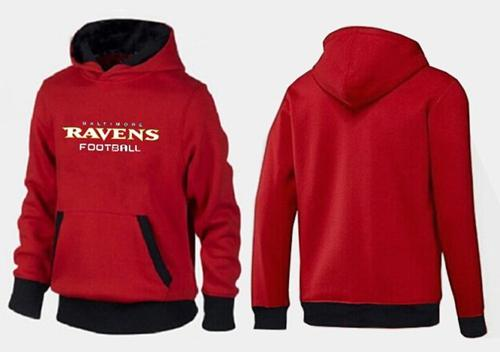 Baltimore Ravens English Version Pullover Hoodie Red & Black