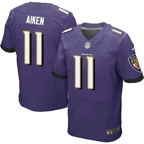 Nike Ravens #11 Kamar Aiken Purple Team Color Men's Stitched NFL New Elite Jersey
