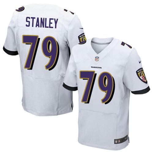 Nike Ravens #79 Ronnie Stanley White Men's Stitched NFL New Elite Jersey