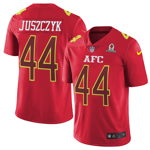 Nike Ravens #44 Kyle Juszczyk Red Men's Stitched NFL Limited AFC 2017 Pro Bowl Jersey