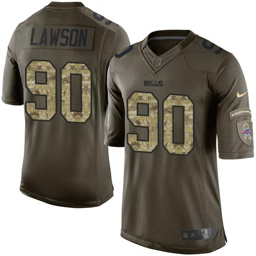 Nike Bills #90 Shaq Lawson Green Men's Stitched NFL Limited Salute To Service Jersey