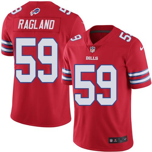 Nike Bills #59 Reggie Ragland Red Men's Stitched NFL Elite Rush Jersey