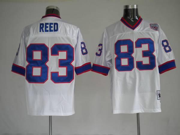 Mitchell & Ness Bills #83 Andre Reed White Stitched Throwback NFL Jersey