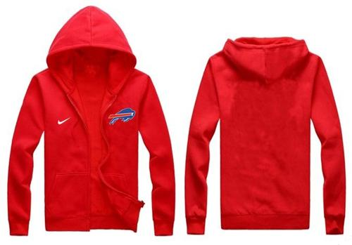 Nike Buffalo Bills Authentic Logo Hoodie Red
