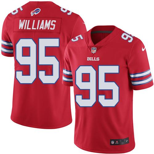 Nike Bills #95 Kyle Williams Red Men's Stitched NFL Elite Rush Jersey