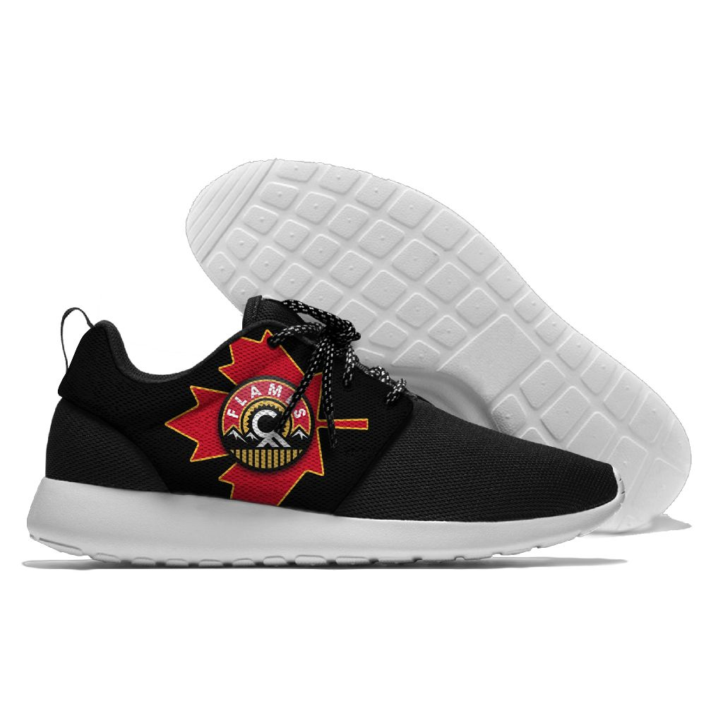 Women's NHL Calgary Flames Roshe Style Lightweight Running Shoes 002