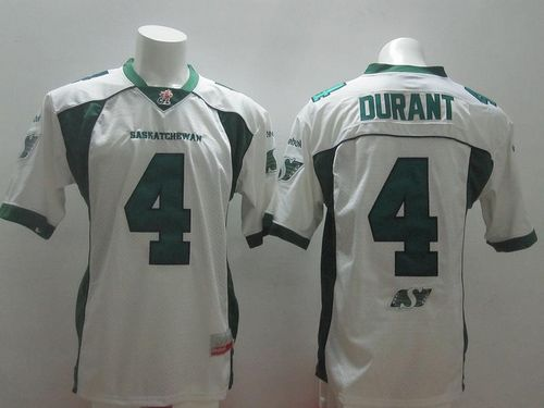 Roughriders #4 Darian Durant White Stitched CFL Jersey