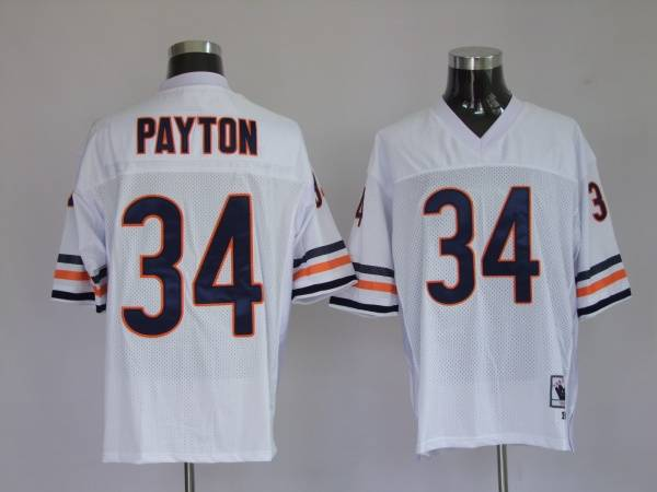 Mitchell & Ness Bears #34 Walter Payton White Stitched Throwback NFL Jersey