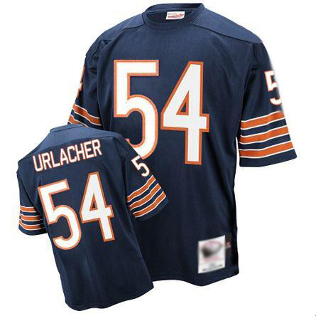 Mitchell and Ness Bears 54# Brian Urlacher Blue Stitched Throwback NFL Jerseys