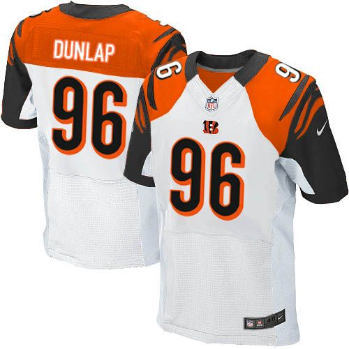 Nike Bengals #96 Carlos Dunlap White Men's Stitched NFL Elite Jersey