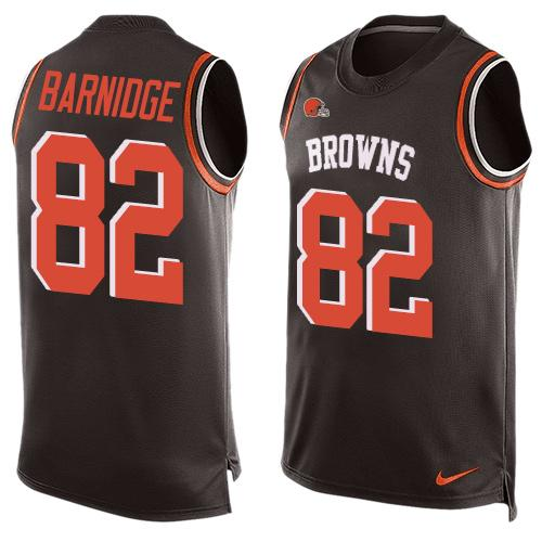 Nike Browns #82 Gary Barnidge Brown Team Color Men's Stitched NFL Limited Tank Top Jersey
