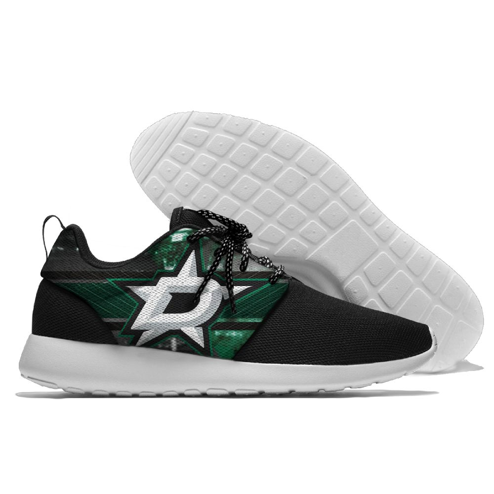 Women's NHL Dallas Stars Roshe Style Lightweight Running Shoes 002