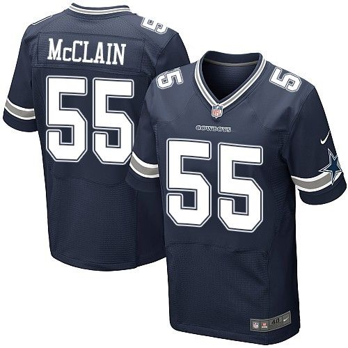 Nike Cowboys #55 Rolando McClain Navy Blue Team Color Men's Stitched NFL Elite Jersey