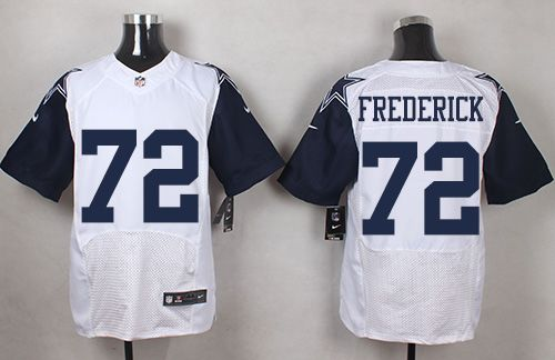 Nike Cowboys #72 Travis Frederick White Men's Stitched NFL Elite Rush Jersey