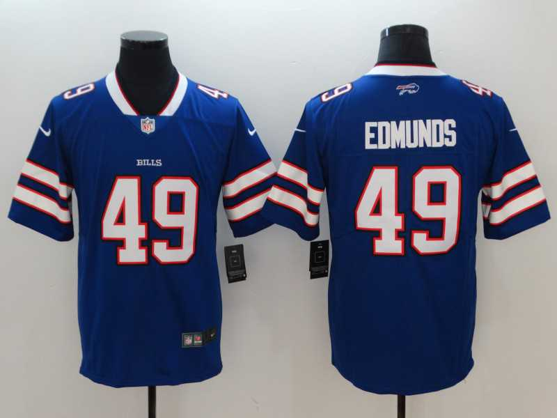 Men's Buffalo Bills #49 Tremaine Edmunds Blue Vapor Untouchable Limited Stitched NFL Jersey
