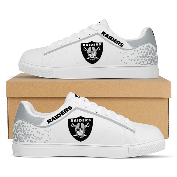 Men's Las Vegas Raiders Low Top Leather Sneakers 002