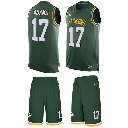 Nike Packers #17 Davante Adams Green Team Color Men's Stitched NFL Limited Tank Top Suit Jersey