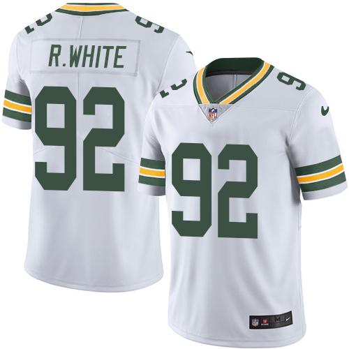 Nike Packers #92 Reggie White White Men's Stitched NFL Limited Rush Jersey