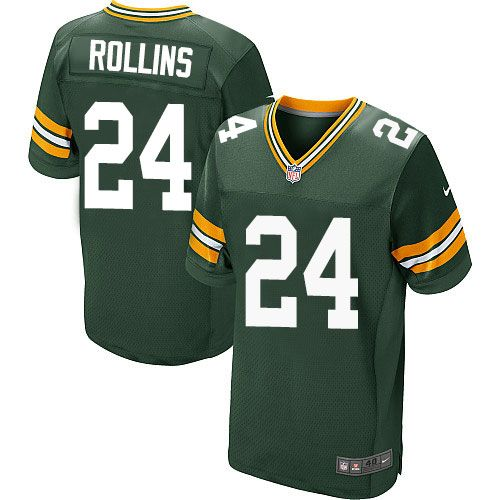 Nike Packers #24 Quinten Rollins Green Team Color Men's Stitched NFL Elite Jersey
