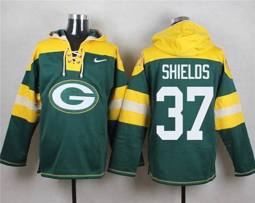 Nike Packers #37 Sam Shields Green Player Pullover NFL Hoodie