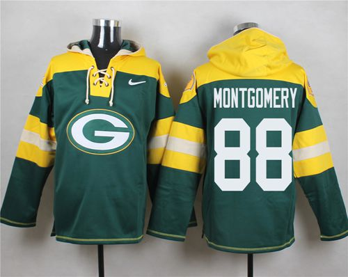 Nike Packers #88 Ty Montgomery Green Player Pullover NFL Hoodie