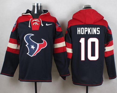 Nike Texans #10 DeAndre Hopkins Navy Blue Player Pullover NFL Hoodie