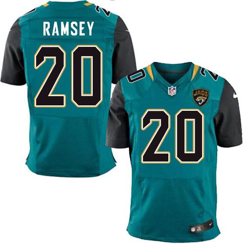 Nike Jaguars #20 Jalen Ramsey Teal Green Team Color Men's Stitched NFL Elite Jersey
